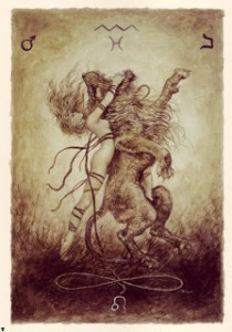 Strength from Labyrinth Tarot