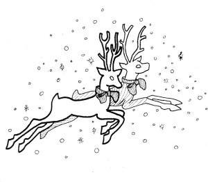 Reindeer coloring page  http://coloringisland.com/coloring-pictures-of-reindeer